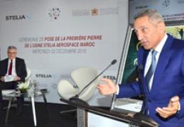 مراسم وضع الحجر الأساس للمصنع الجديد لفرع شركة ستيليا آيروسبيس بالمغرب