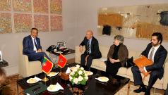 لقاء السيد مولاي حفيظ العلمي مع السيد اوغستو سانتوس سيلفا, وزير الشؤون الخارجية للجمهورية البرتغالية